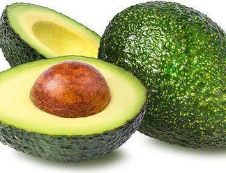 one whole organic hass avocado one cut